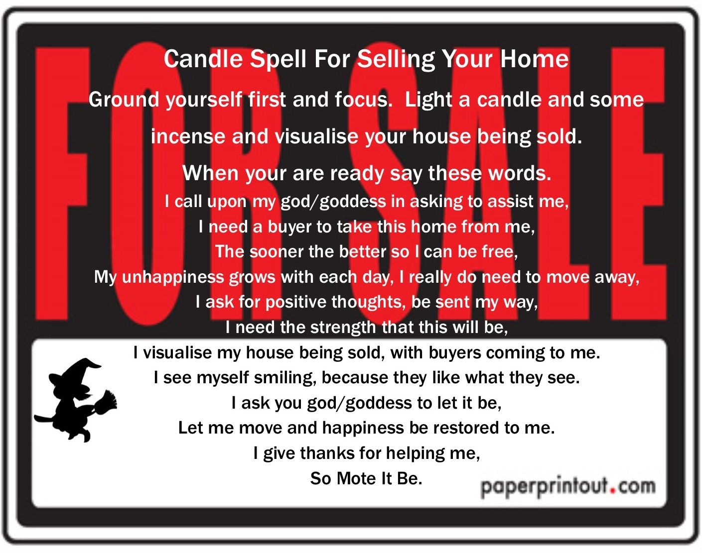 To Sell your house Sell house fast, Things to sell