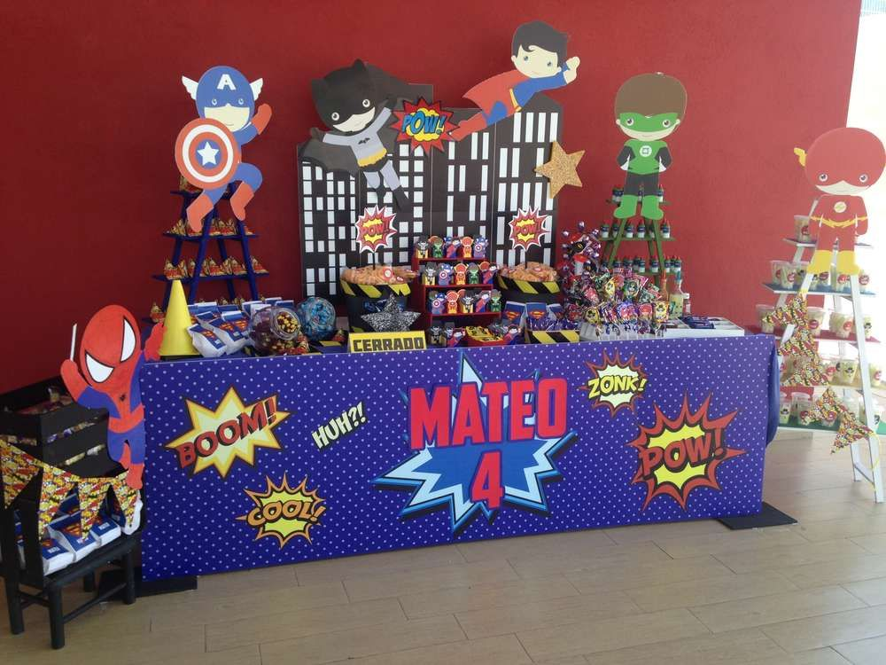Justice league birthday party ideas