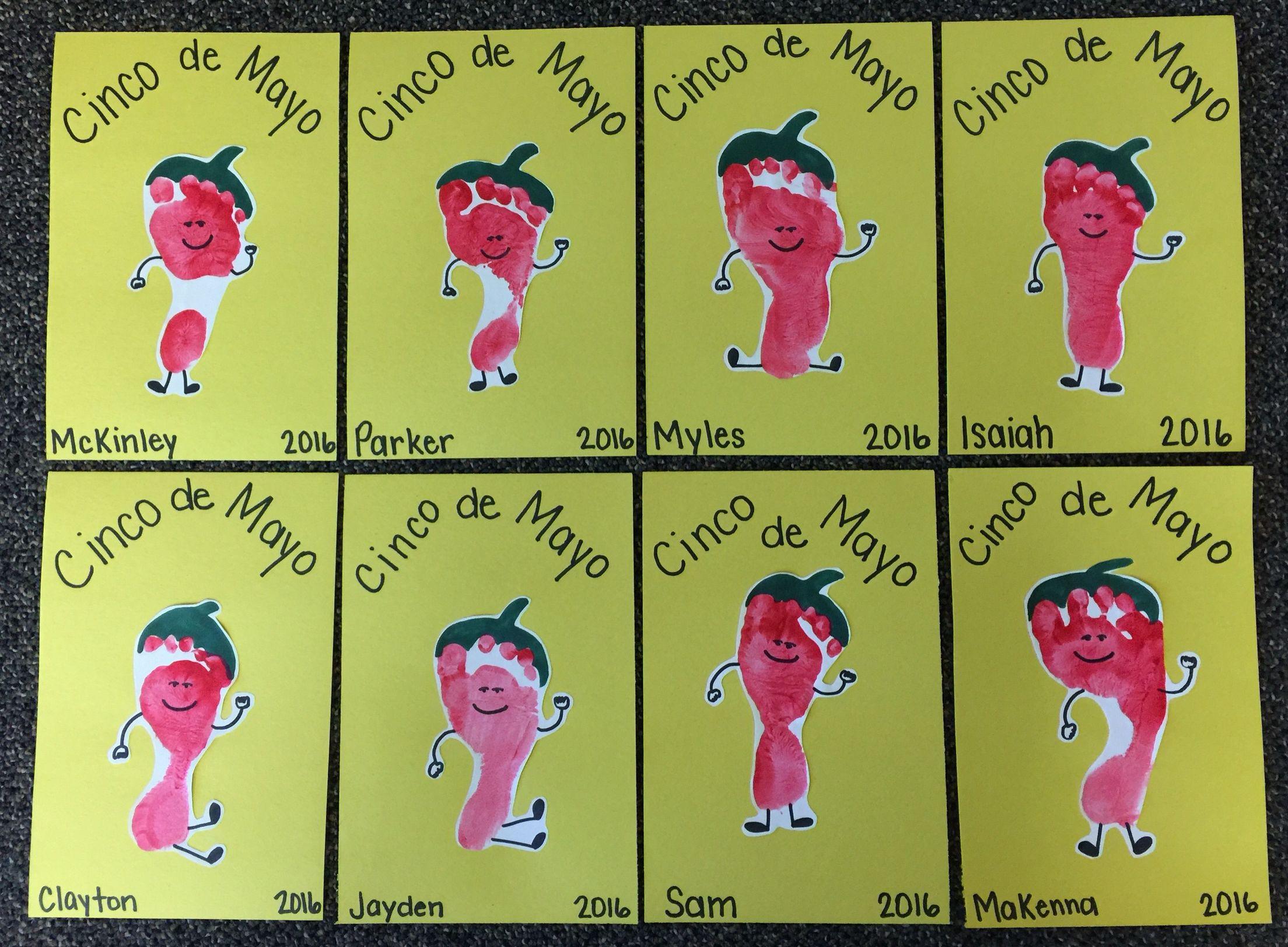 Cinco De Mayo Dancing Pepper Footprint Infant
