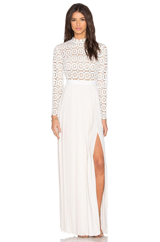 Self Portrait Pleated Crochet Maxi Dress · Kate Middleton Style Blog ...