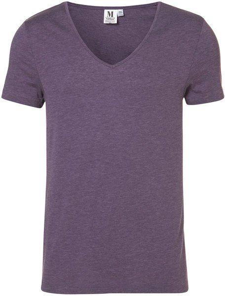 025e82926742 Fancy - Topman Purple Bound Neck Vee Tshirt in Purple for Men   Lyst
