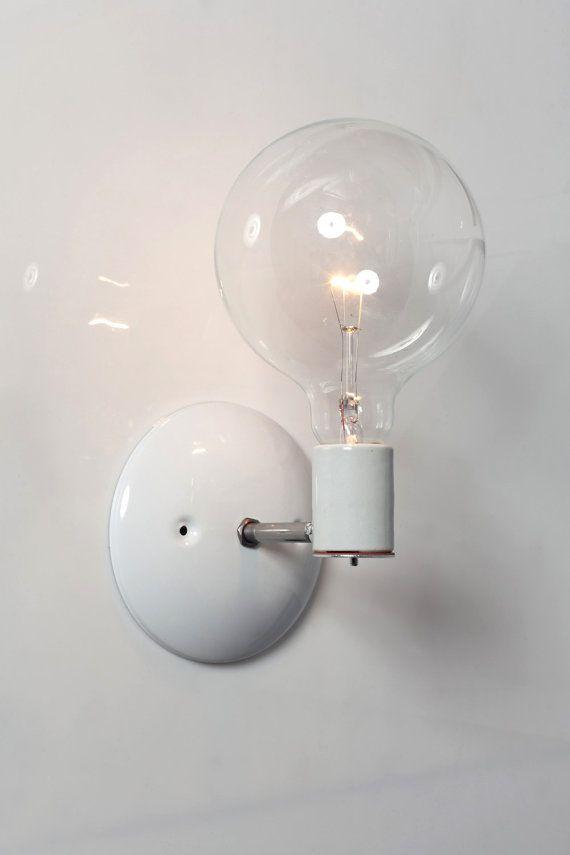 industrial lighting bare bulb light fixtures. Industrial Lighting Wall Sconce Bare Bulb Light By IndLights $35 Fixtures A