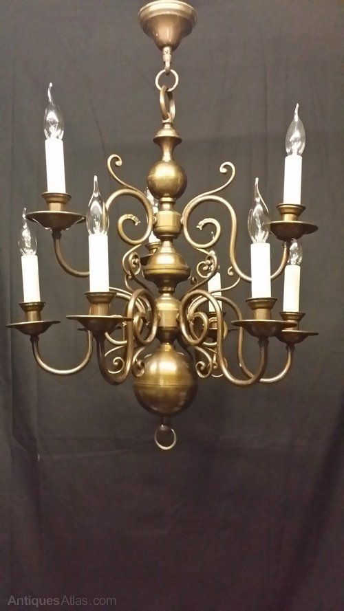 Antique flemish chandelier