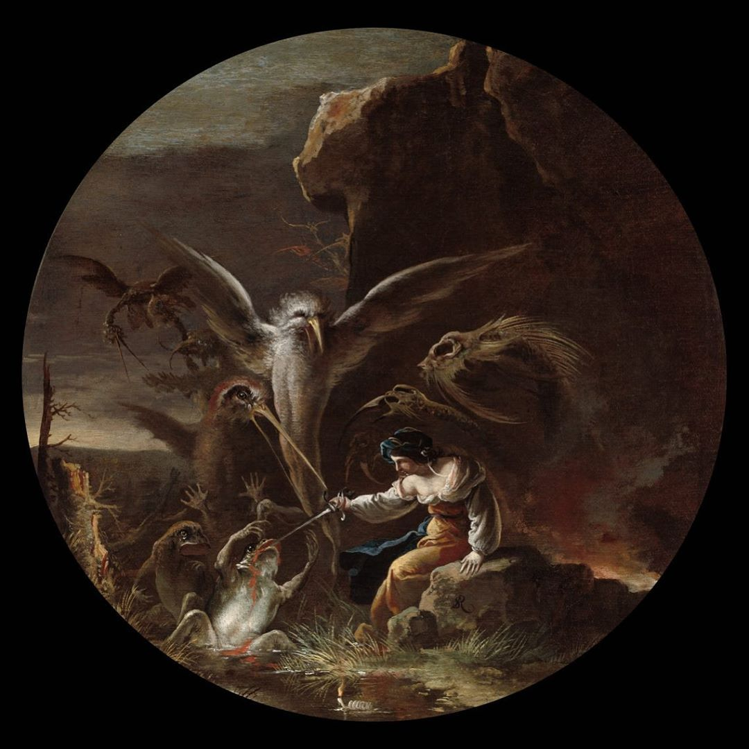 SALVATOR  ROSA  WITCHES AT THEIR INCANTATIONS BAROQUE GICLEE PRINT ART CANVAS