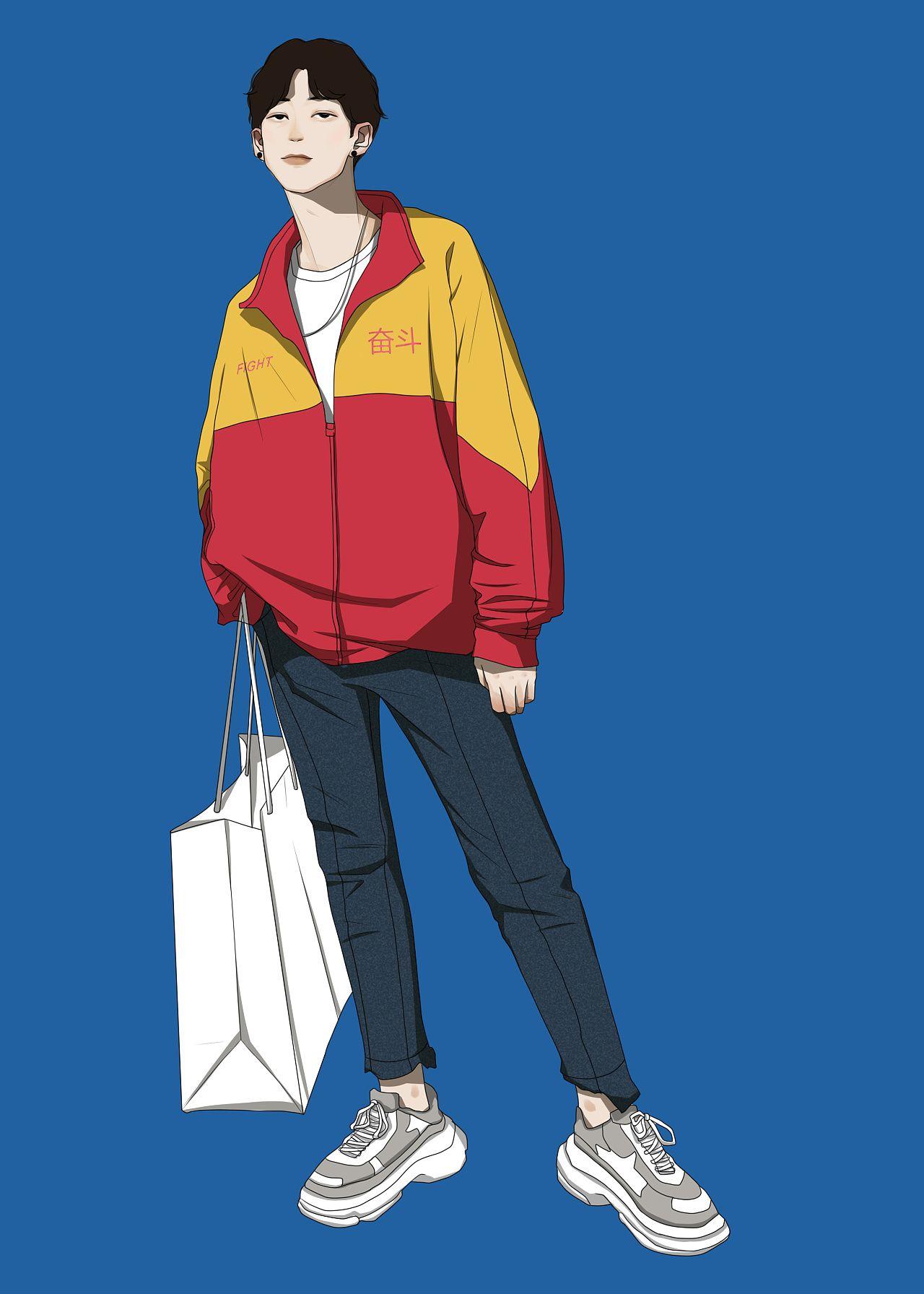 秋装 z石化 来咯 插画 其他插画 一针 原创作品 站酷 zcool character illustration character design character art