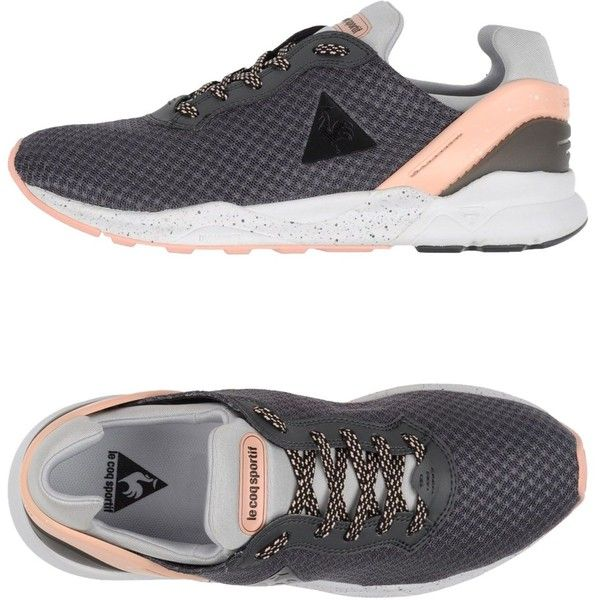Le Coq Sportif Low-tops & Trainers featuring polyvore, women's fashion, shoes, sneakers, lead, low profile sneakers, flat shoes, round toe flat shoes, two tone shoes and rubber sole shoes