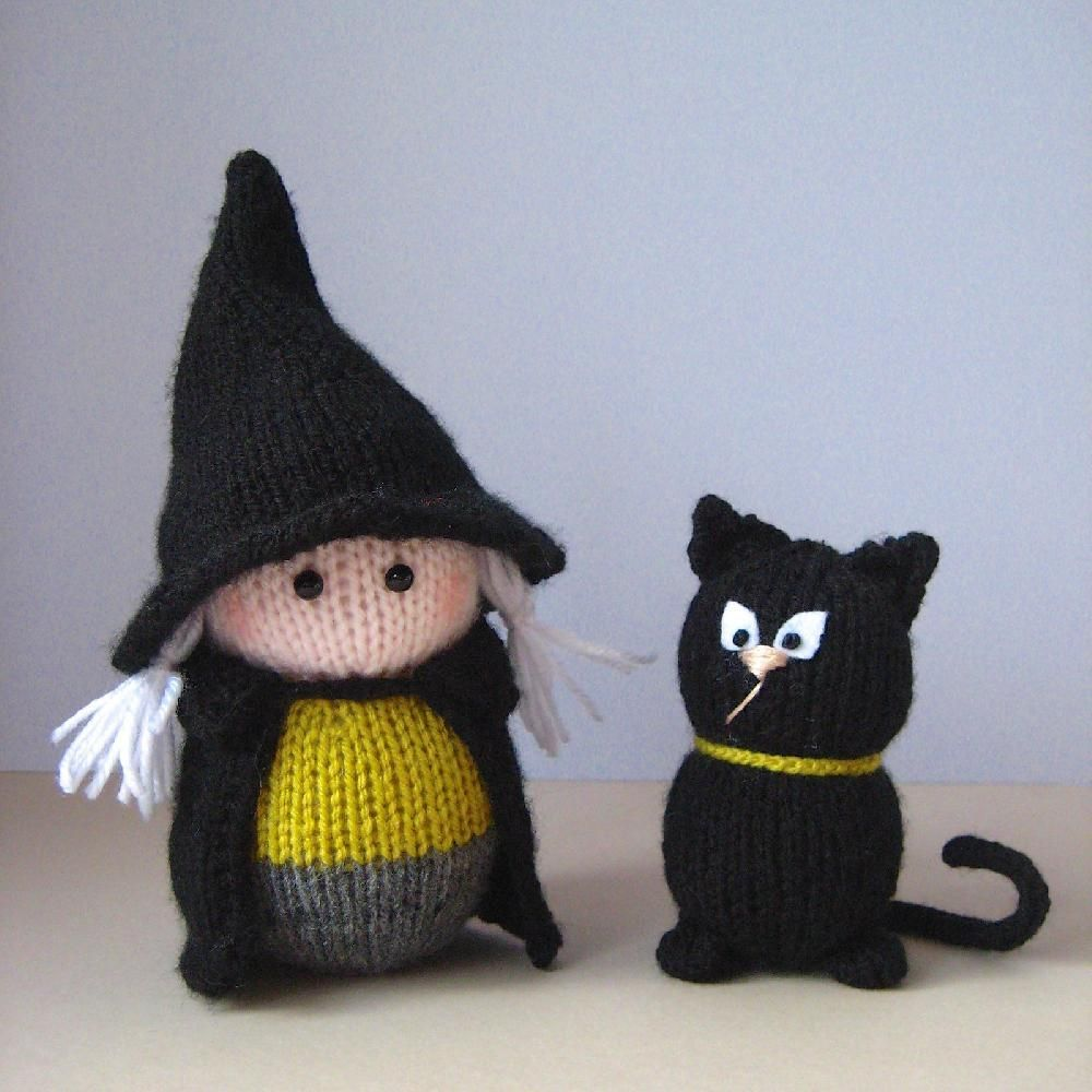 Wanda the Witch | Pinterest | Black cats, Knitting patterns and Witches