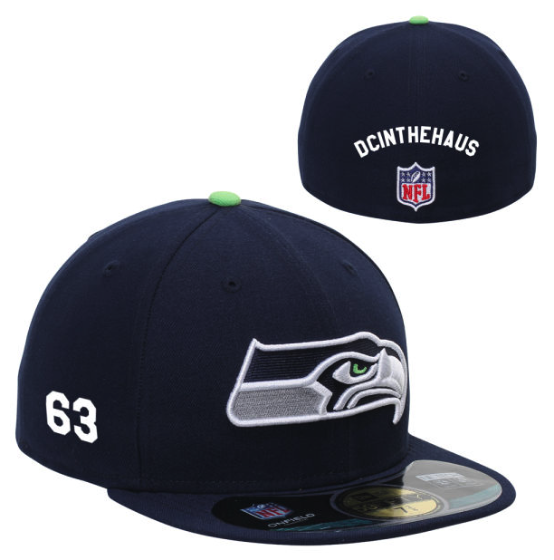 Customized fitted Seahawks cap