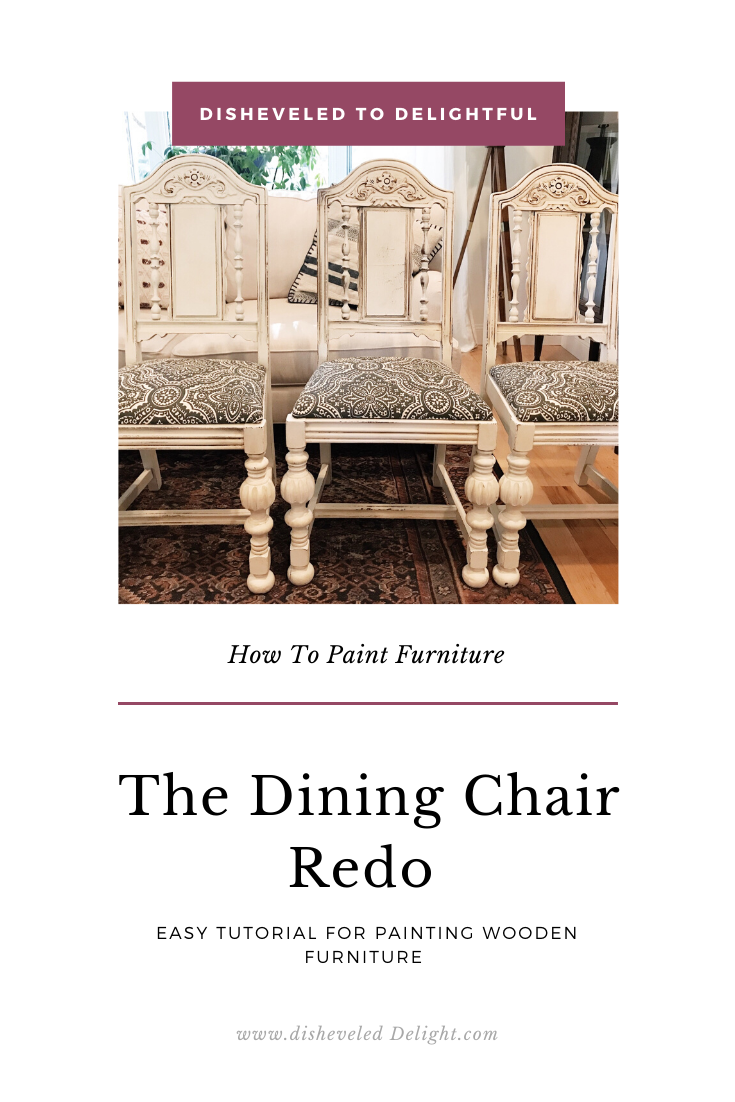 Dining Room Chair Redo - Disheveled Delight   Dining room ...