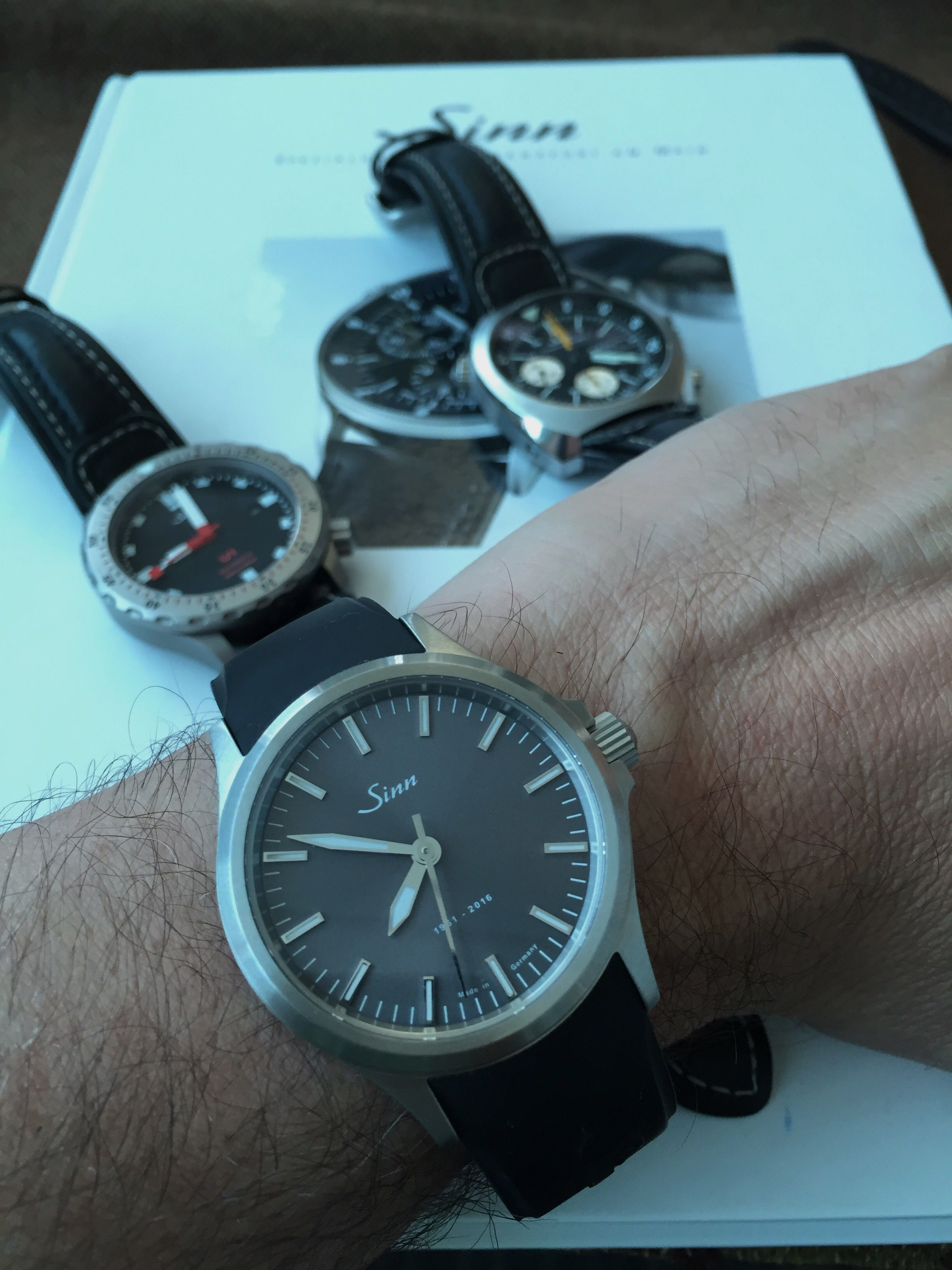 Tim popped in to collect his new sinn spezialuhren 555