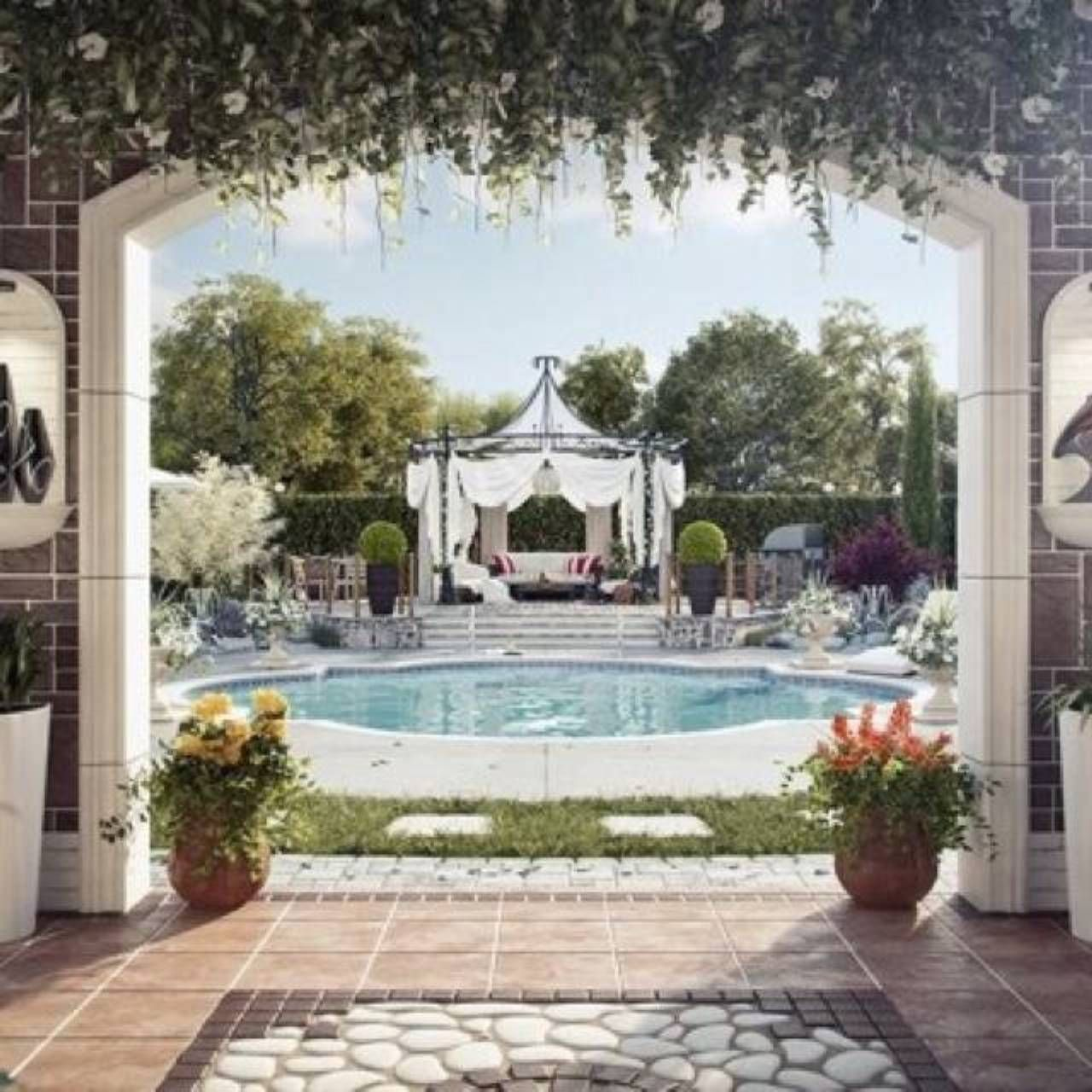 awesome stunning backyard pools and landscaping ideas awesome