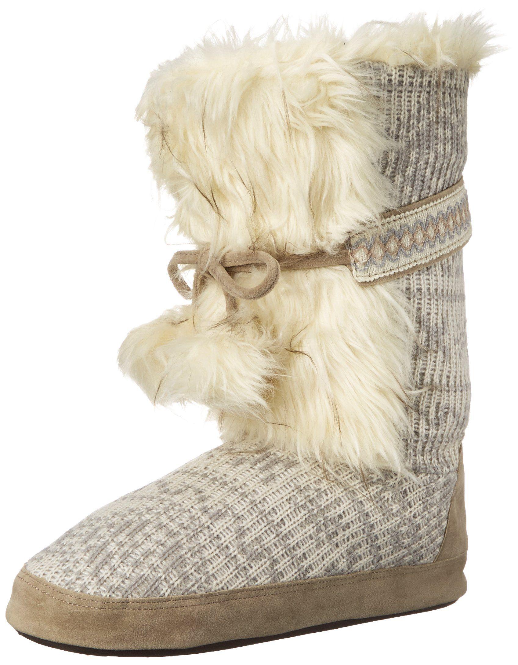 Muk Luks Womens Jewel Winter White Slouch Boot