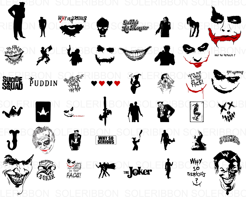 Joker Svg Bundle 50 Joker Movie Svg Png Dxf Joker Cricut Silhouette Files Joker Shirt Design File For Cricut Silhoue Joker Logo Joker Images Joker Print