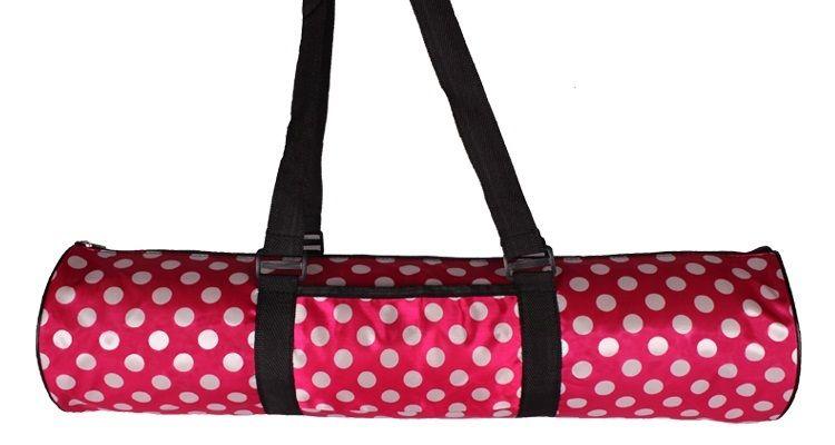$10 Black with White Polka Dots Yoga Bag