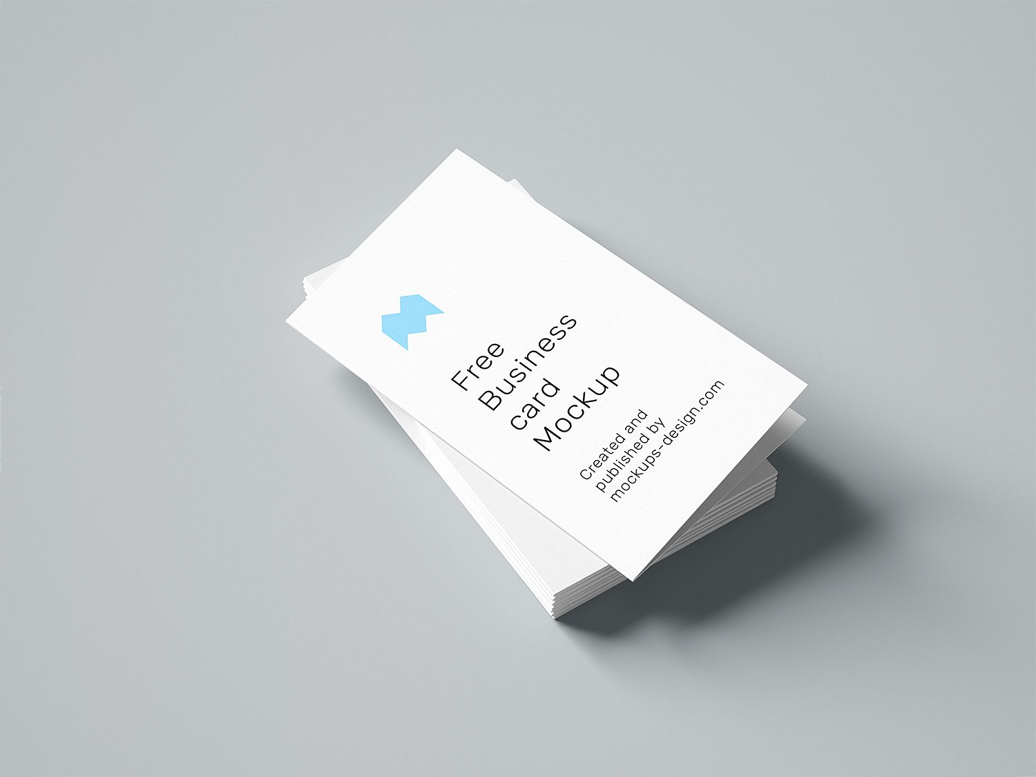 Free Folded Business Cards Mockup 85x55mm Free Business