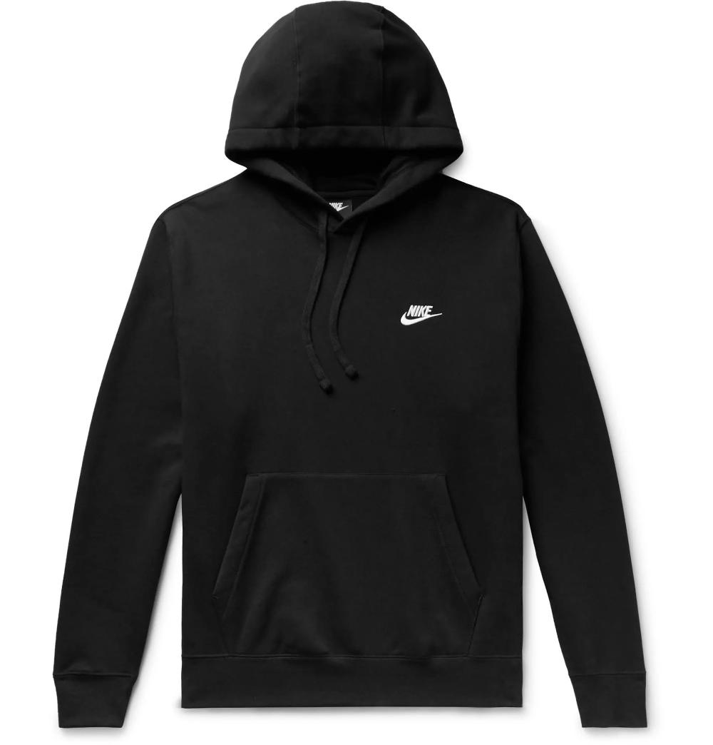Cotton Blend Hoodie Black Nike Hoodie Hoodies Black Hoodie Men [ 1044 x 1000 Pixel ]