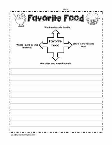 Favorite Food Paragraph Writing Worksheet Teaching My Essay In Hindi Favourite Indian For Clas 2