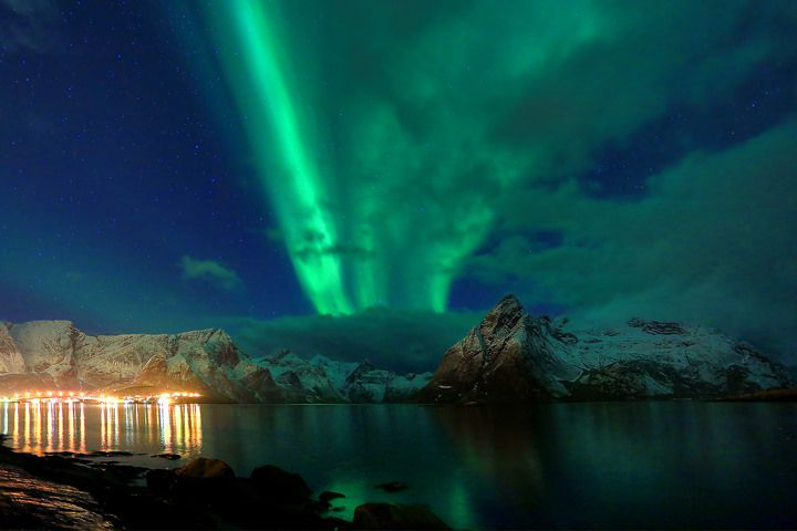 Hamnoy island, yet another aurora photo, this one was one