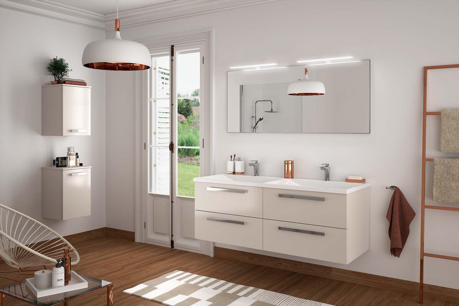meuble de salle de bain cedam gamme harmonie dcor cachemire ambiance pure accessoires - Salle De Bain Epuree