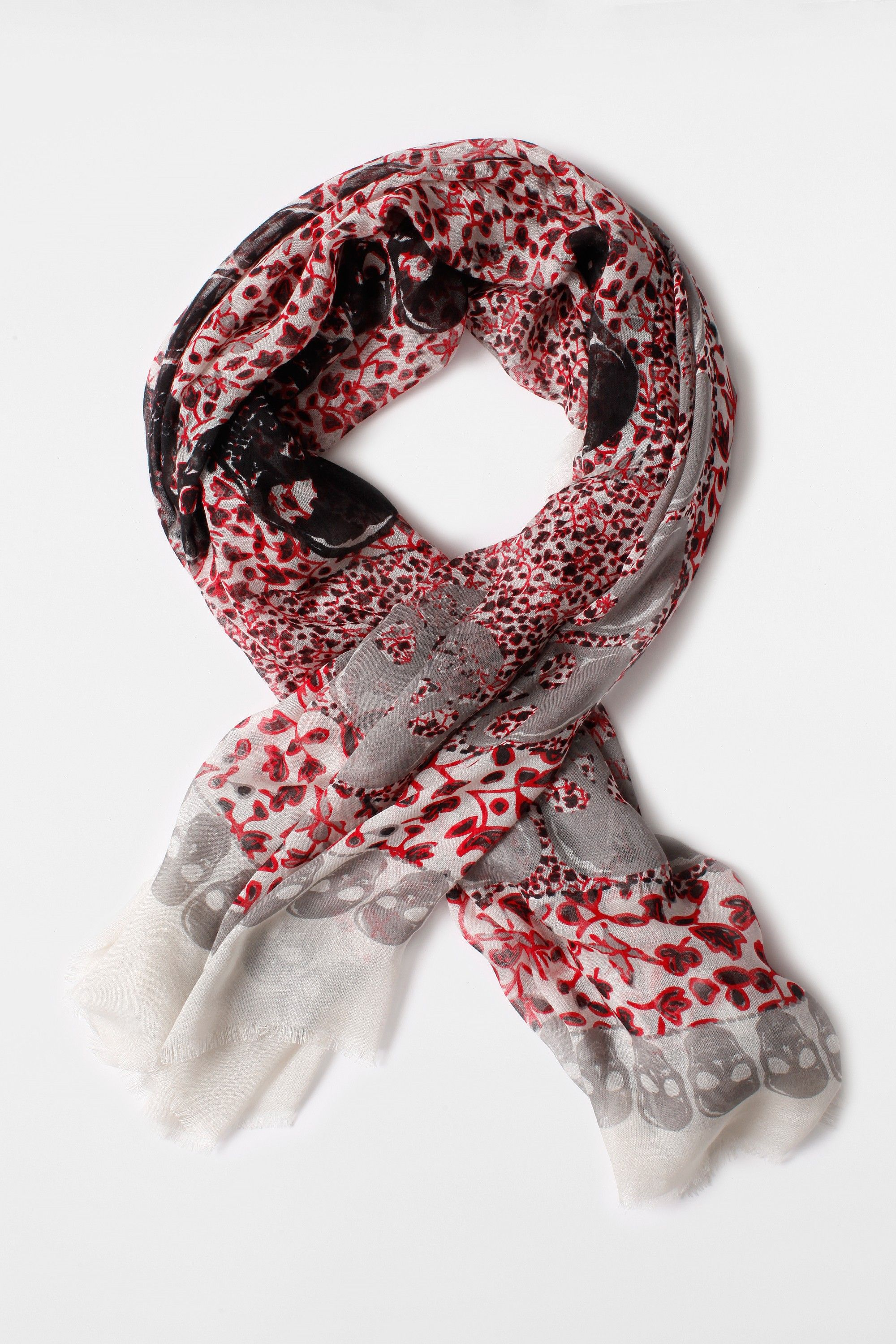 5f555fa1bf5 Zadig et Voltaire printed scarf, wide and enveloping, the print ...