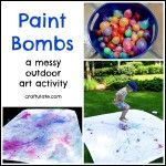 Try these fast growing seeds if you're working with kids! #sommerlichebastelarbeiten Paint Bombs #sommerlichebastelarbeiten