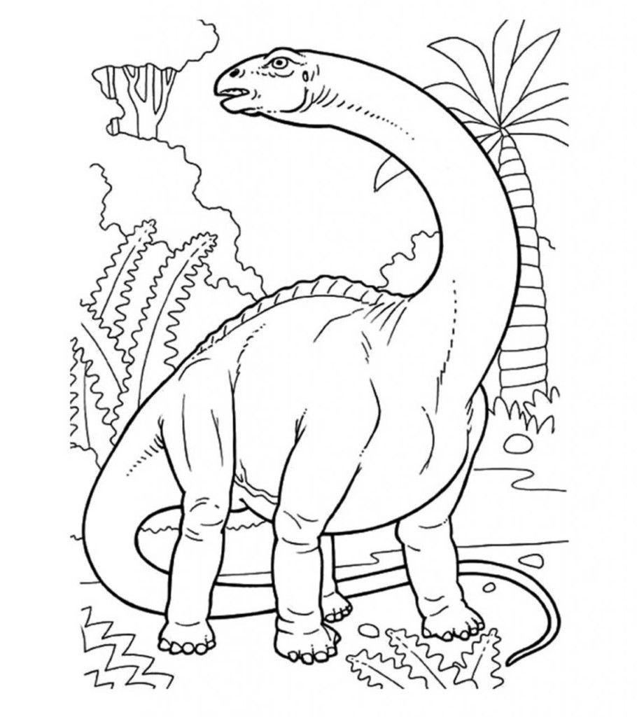 Desenho Para Colorir Dinossauro Os Dinossauros Sao Um Grupo
