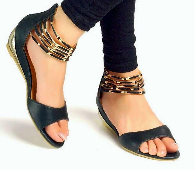 Latest ECS fancy open shoes for modern