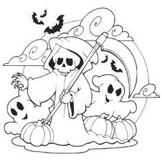 Scary Ghosts Halloween Coloring Page Halloween Coloring Book Coloring Books Halloween Coloring Pages