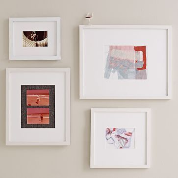 Gallery Frames, Set of 4, Assorted Sizes, White Lacquer | Steinberg ...