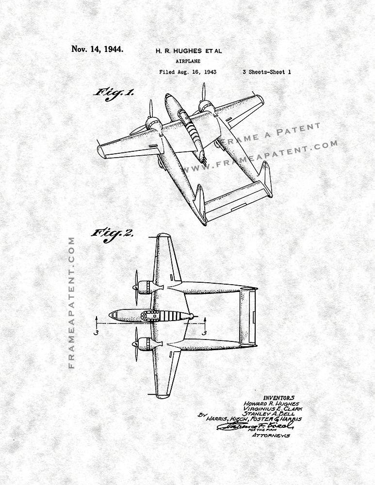 Airplane Patent Print