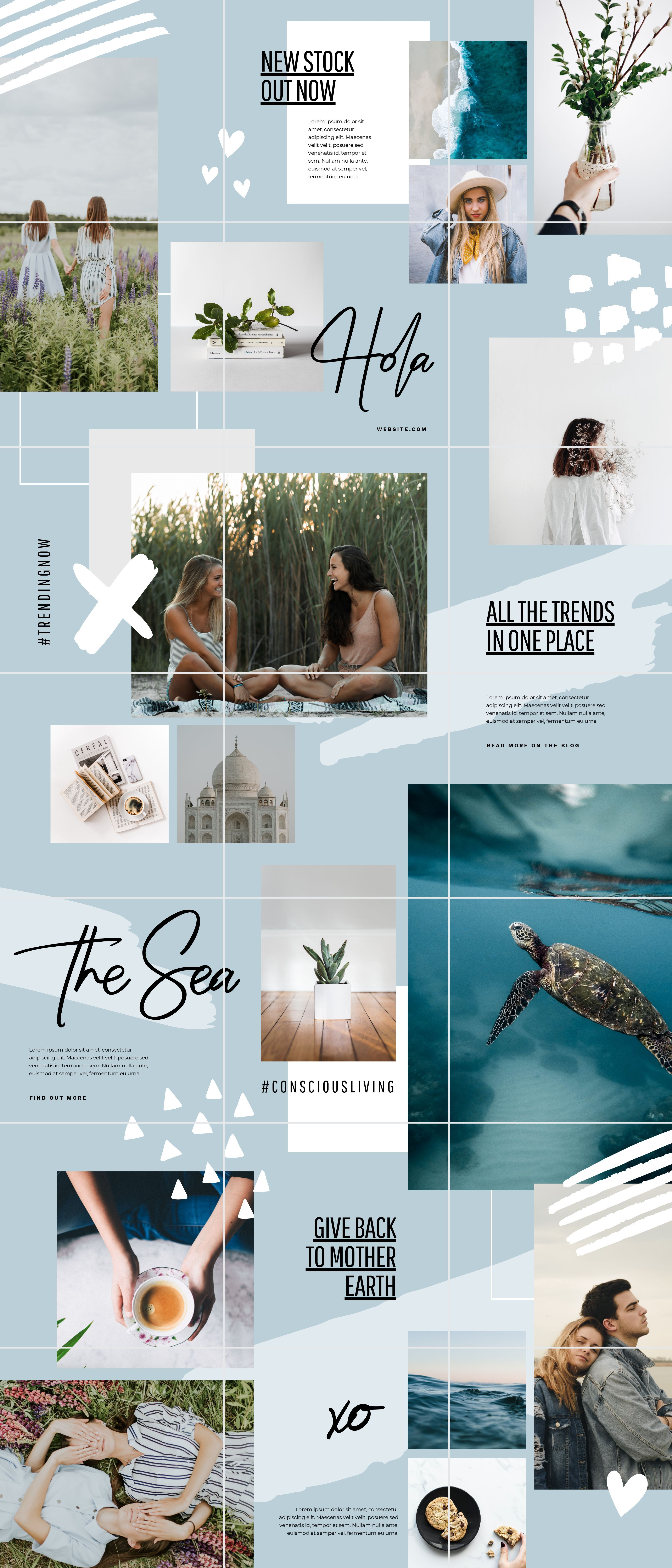 How To Create A Beautiful Instagram Puzzle Feed 5 Free Templates Easil Instagram Theme Feed Instagram Grid Design Instagram Feed Layout
