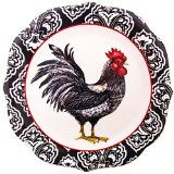 Right Facing Black Rooster Salad Plate Dinnerware Serveware With Images Rooster Rooster Decor Black Rooster