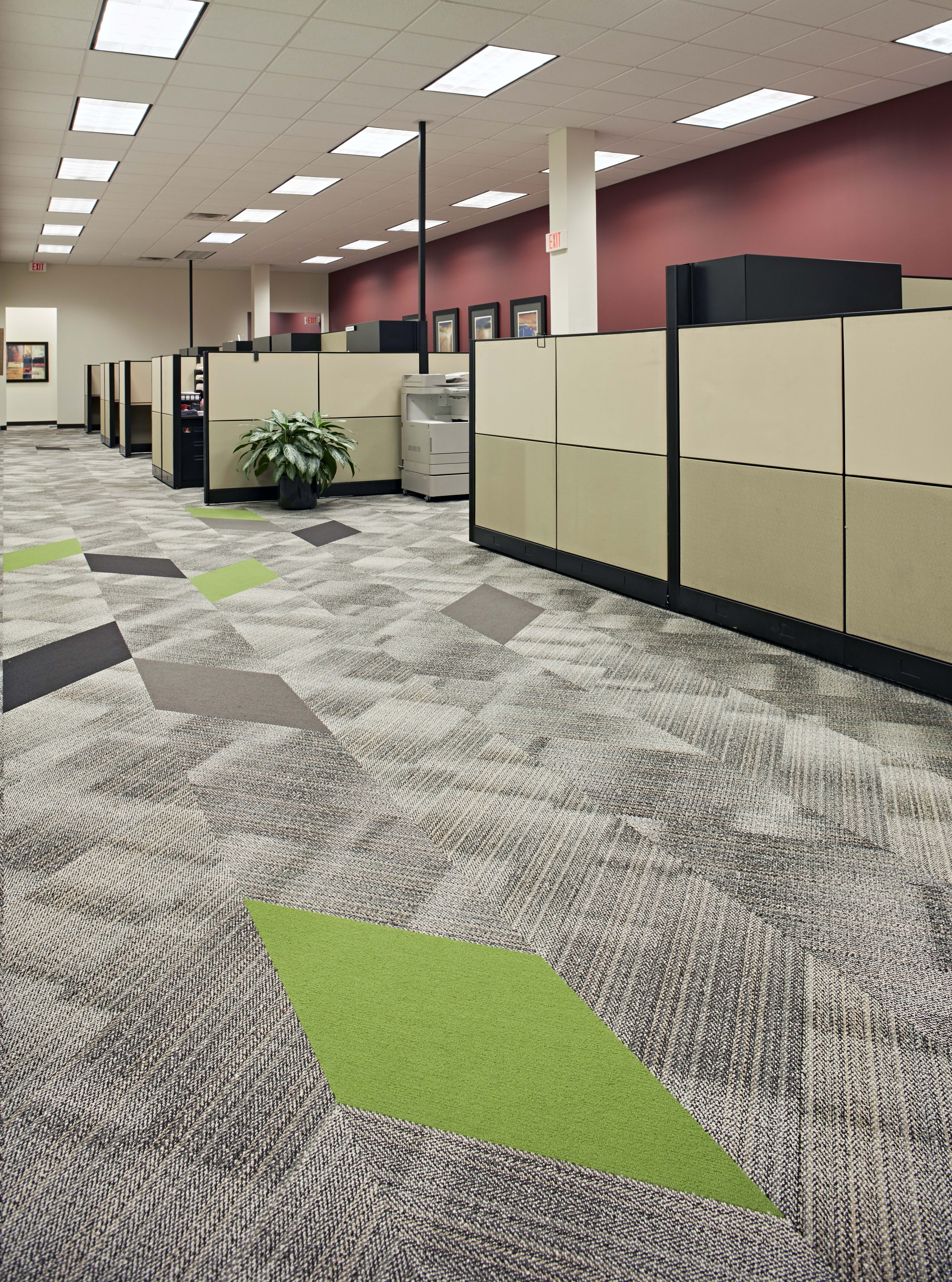 Patcraft S Geometric Carpet Tile In Facet Installed At