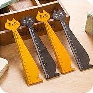 forma gato régua de madeira (cor aleatória) – BRL R$ 6,81