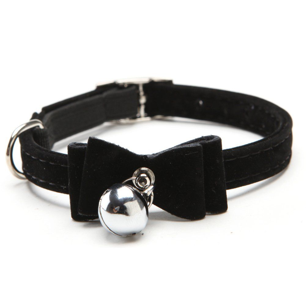 PU Leather Dog Puppy Cat Pet Safety Nylon Necklace Neck Lace Adjustable Collar