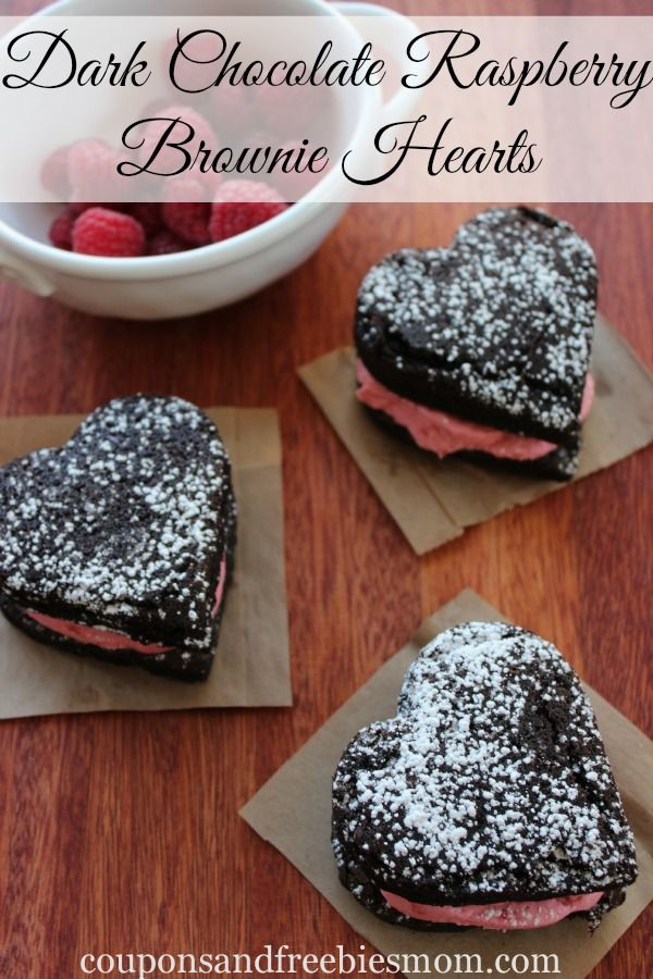 These Dark Chocolate Raspberry Brownie Hearts are amazing! Using a boxed mix, you can whip up this batch of brownies with the luscious raspberry cream filling that makes a perfect Valentine's Day treat to be shared or kept all to yourself!