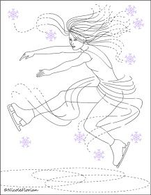 nicoles free coloring pages new figure skating coloring pages