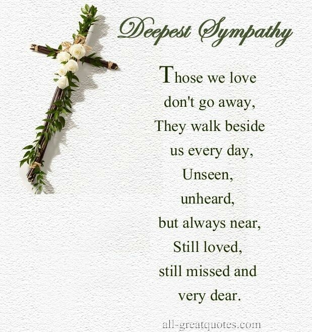 Words Of Sympathy New World: Deepest Sympathy Quotes Loved Ones - Bing Images