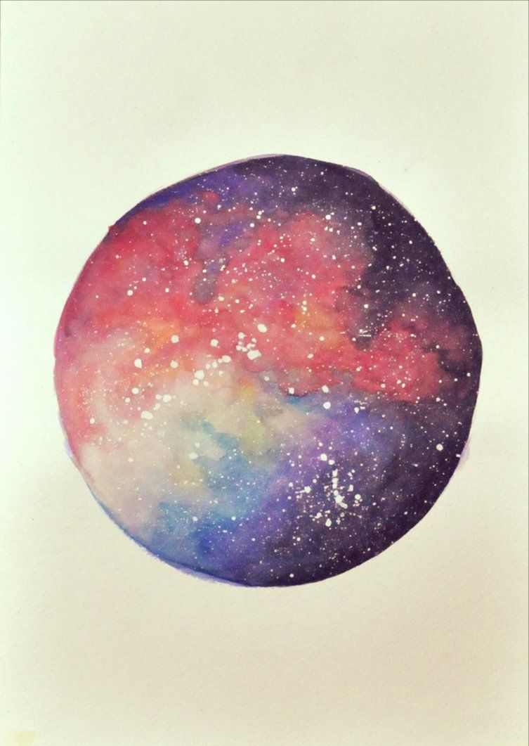 how to make a watercolour galaxy painting