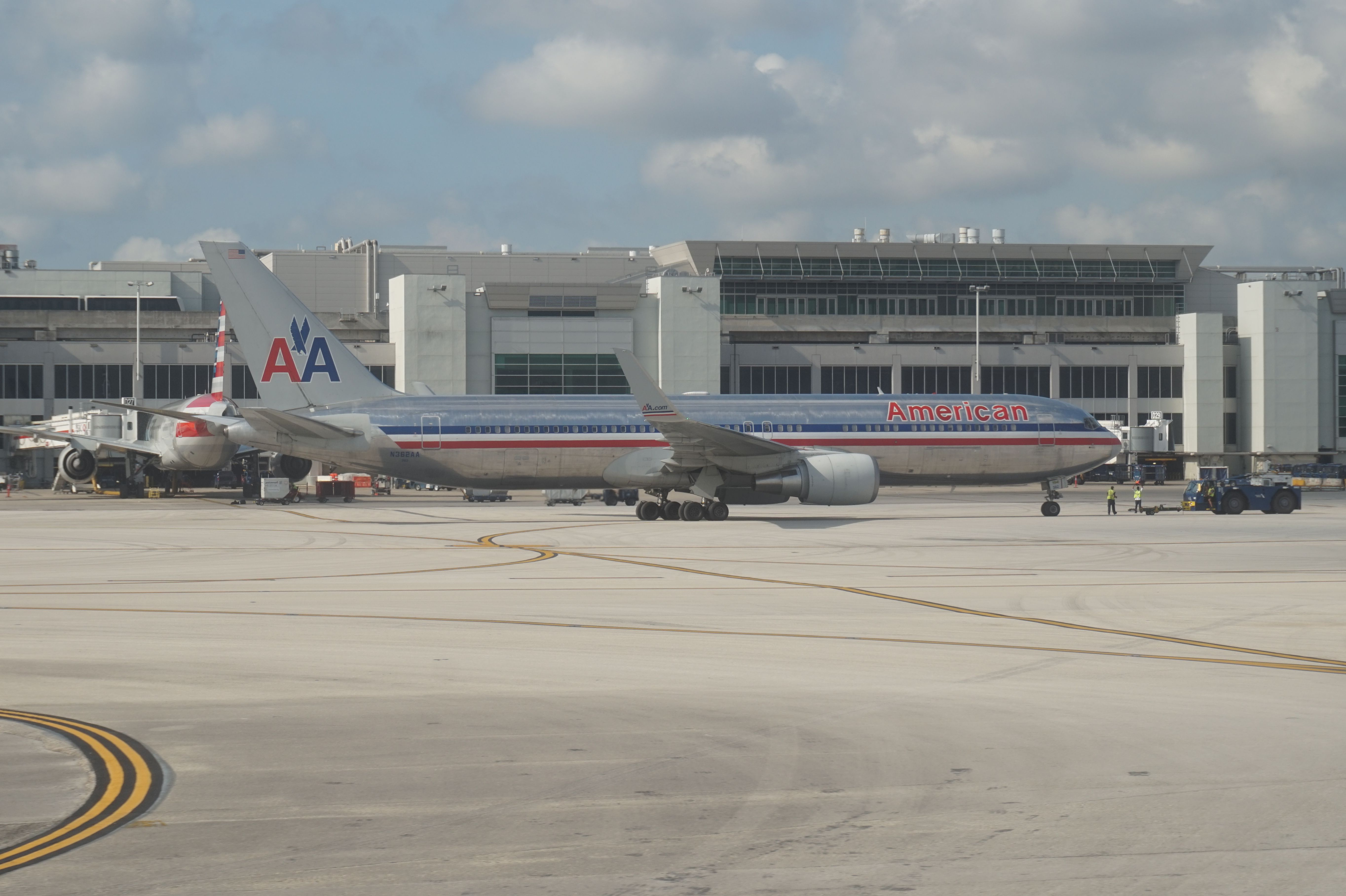 American Airlines B767 at Miami International Airport, in