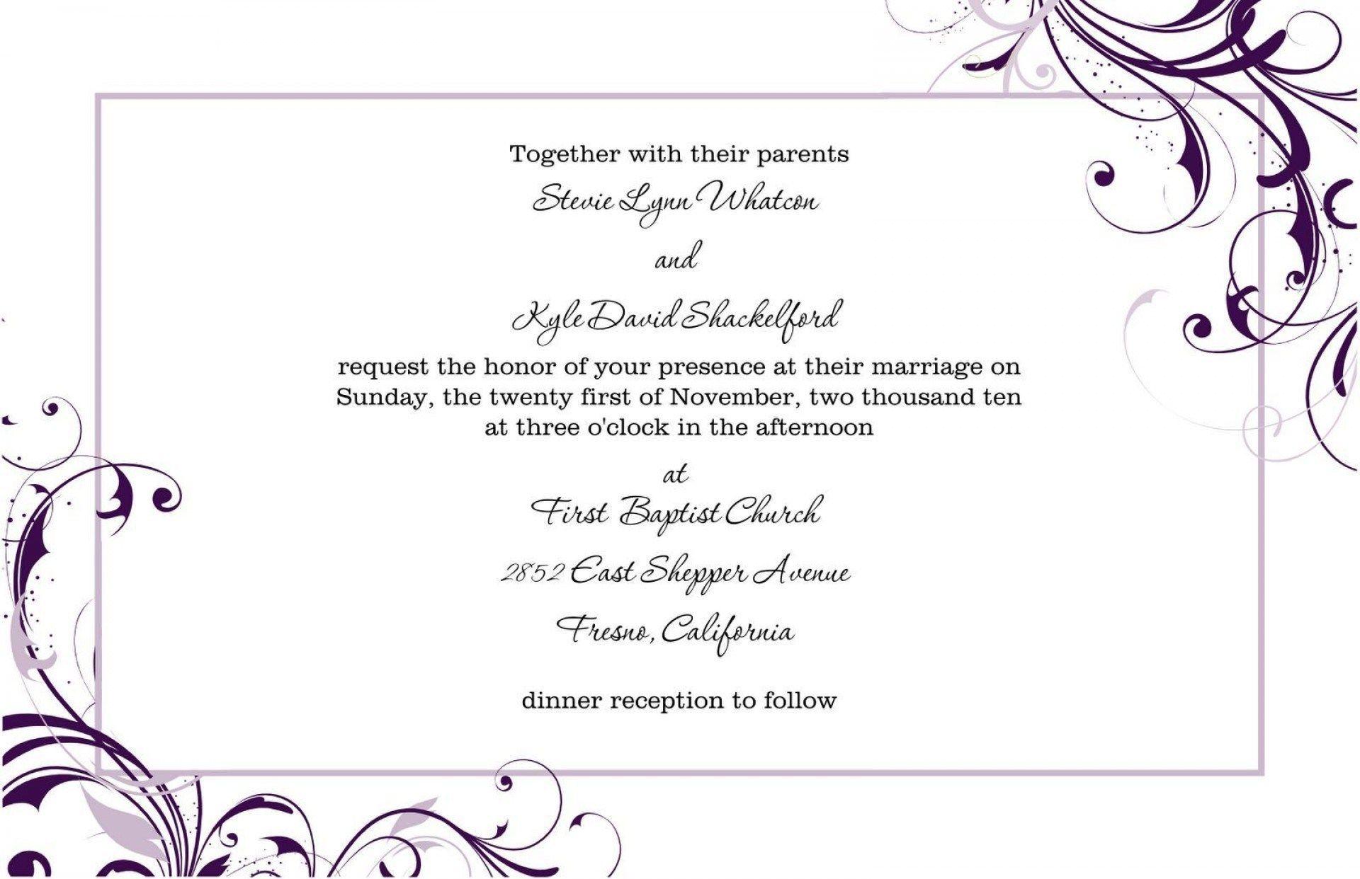 35 Great Image Of Free Wedding Invitation Templates For Word Regiosfera Com Free Wedding Invitation Templates Blank Wedding Invitation Templates Free Wedding Invitations