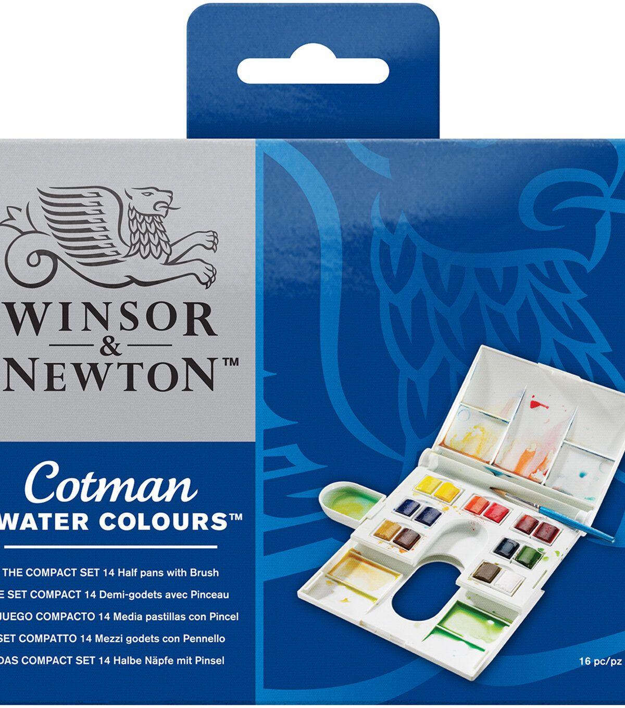 Winsor Newton Cotman Watercolour Half Pan Brush Pen Set Of 12