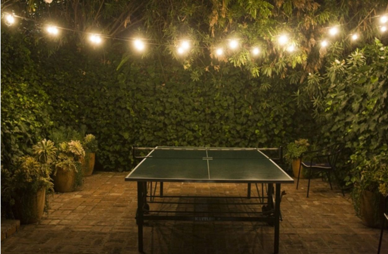 Outdoor Table Tennis Fairy Lights Ping Pong