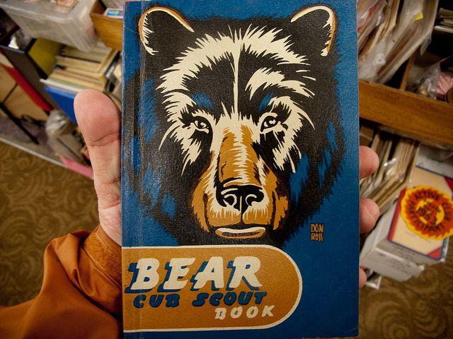 Bear Cub Scout book. by Draplin, via Flickr