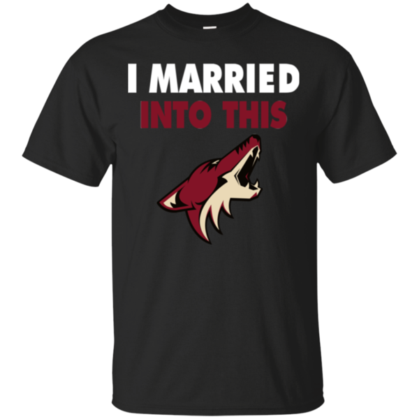 Arizona Coyotes T shirts I Married Into This Hoodies Sweatshirts