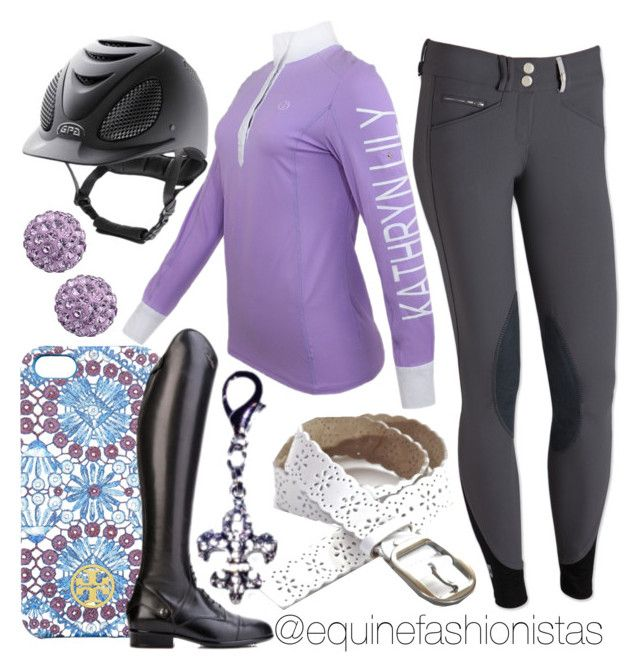"""Schooling in Purple ?"" by ashlyn-pease ❤ liked on Polyvore featuring Mrs Darcy, Tory Burch and VERONA"