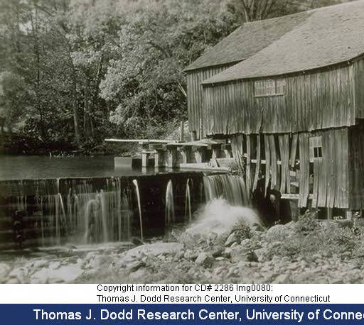 Gurleyville Mill (saw mill), Gurleyville. :: Connecticut History Online