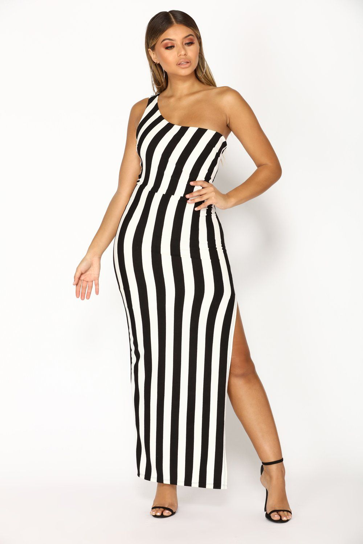 b52ec3c1eda Ziggy Stripe Dress - Black White