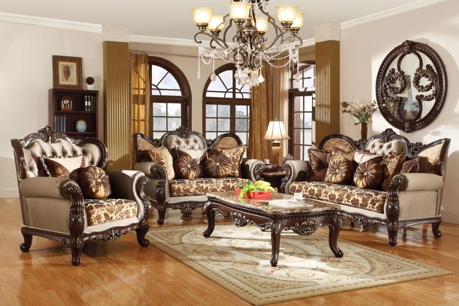 Antique Style Wing Back Sofa Love Seat French Provincial Living Room Set Antique Living Rooms Living Room Decor Furniture French Living Room Furniture