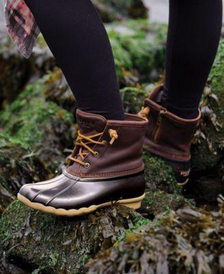Sperry Women's Saltwater Duck Booties - Black 8M